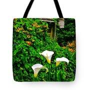 Calla Lilies Vertical Tote Bag