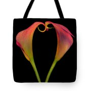Calla Lillies Kissing Tote Bag