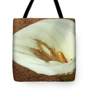 Calla Lily Gold Leaf Tote Bag
