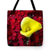 Calla Lily In Red Kalanchoe Tote Bag