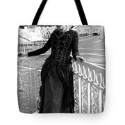 Calley In The Corner Black And White Tote Bag
