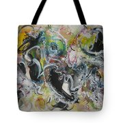 Calligraphy Abstract 03 Tote Bag