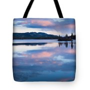 Calm Twin Lakes At Sunset Yukon Territory Canada Tote Bag