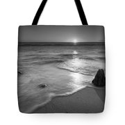 Calm Winter Waves Bw Tote Bag