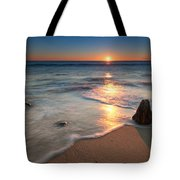 Calm Winter Waves Tote Bag