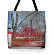 Calumet Farm Entrance Tote Bag by Roger Potts