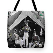 Calvary Troopers On Bivouac Tent Date Unknown Image Restored Color Added 2008  Tote Bag