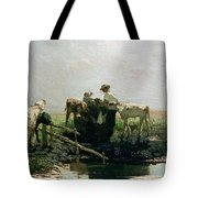 Calves At A Pond, 1863 Tote Bag
