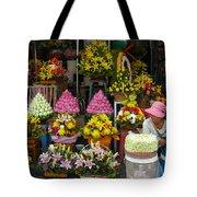 Cambodia Flower Seller Tote Bag by Mark Llewellyn