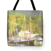 Camden Harbor Maine Tote Bag by Carol Leigh