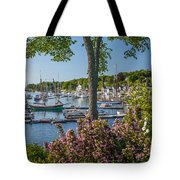 Camden Harbor Spring Tote Bag by Susan Cole Kelly