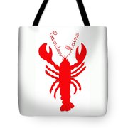 Camden Maine Lobster With Feelers 20150207 Tote Bag