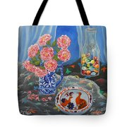 Camellias With Glass Beads Tote Bag