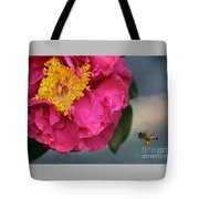 Camellia With Bee Tote Bag