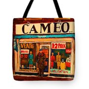 Cameo Dress Shop Tote Bag