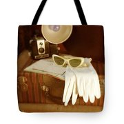 Camera Sunglasses On Luggage Tote Bag