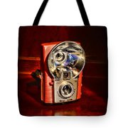 Camera - Vintage Brownie Starflash Tote Bag
