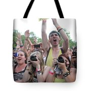 Cameras In The Crowd Tote Bag
