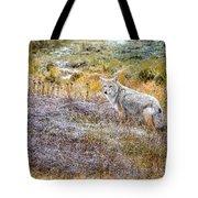 Camo Coyote Tote Bag