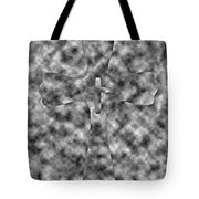 Camouflage Gray Black And White Cross Tote Bag