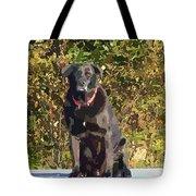 Camouflage Labrador - Black Dog - Retriever Tote Bag