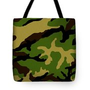 Camouflage Military Tribute Tote Bag