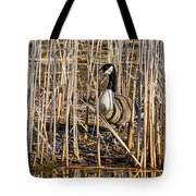 Camouflaged Canada Goose Tote Bag