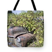 Camouflaged Car Tote Bag