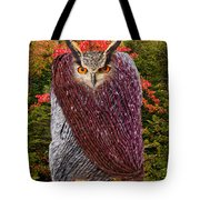 Camouflaged Owl Tote Bag
