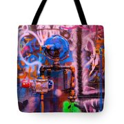 Camouflaged Pipework Tote Bag