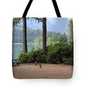 Camp By The Lake Tote Bag