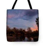 Camp Davis River Sunset Tote Bag