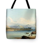 Camp Of The Gros Ventres Of The Prairies Tote Bag