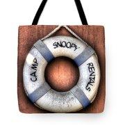 Camp Snoopy Rentals Tote Bag by Heidi Smith
