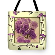 Campanula Framed With Pressed Petals Tote Bag