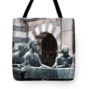 Campari Grave Marker Detail IIi Disciples Last Supper Tote Bag