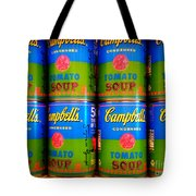 Campbell's Tomato Soup Retro Andy Warhol Tote Bag