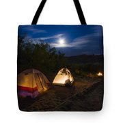 Campfire And Moonlight Tote Bag