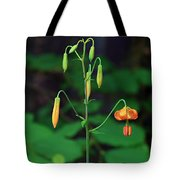 Campground Flower Tote Bag