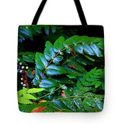 Campground Foliage Tote Bag