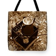 Camping Coffee Tote Bag
