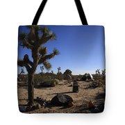Camping In The Desert Tote Bag