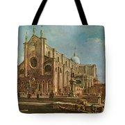 Campo Dei Santi Giovanni E Paolo And The Scuola Grande Di San Marco, Venice Oil On Canvas Tote Bag