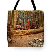 Campsite By The Box Car Tote Bag