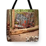 Campsite Near A Train Wreck Tote Bag