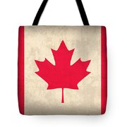 Canada Flag Vintage Distressed Finish Tote Bag