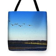 Canada Geese At Northside Park Tote Bag