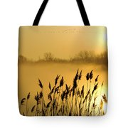 Canada Geese In Flight At Sunrise Tote Bag