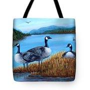 Canada Geese - Lake Lure Tote Bag