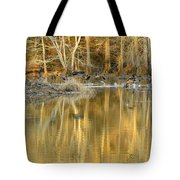 Canada Geese On A Golden Morning Tote Bag